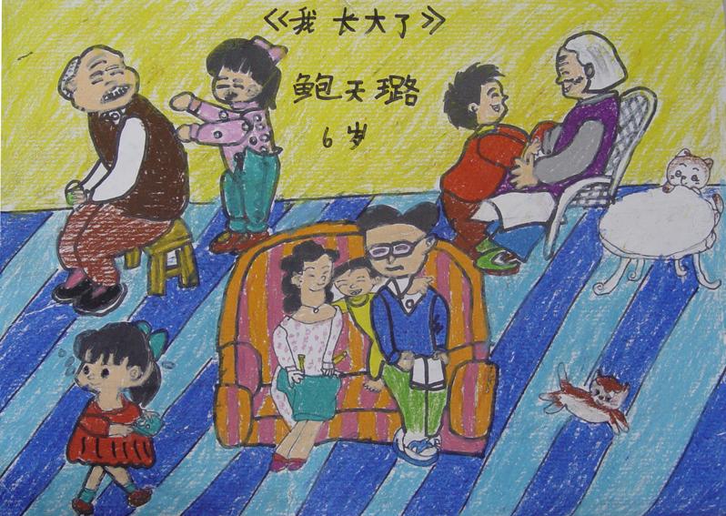 儿童画《海底世界》 儿童画—《庆祝奥运》 儿童画《荷花》 学生作品