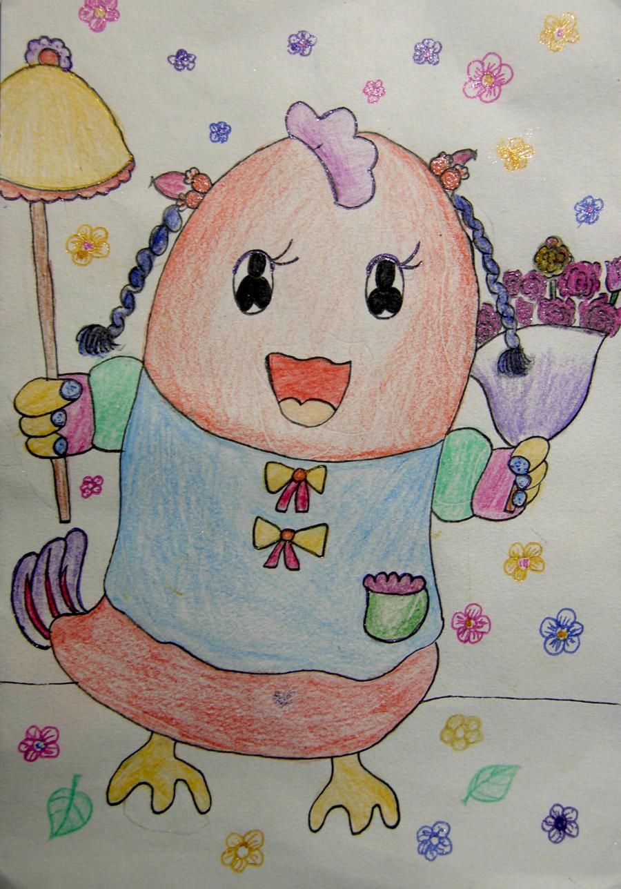 学生作品《捉迷藏》 儿童画《企鹅姑娘》 儿童画—《太空垃圾清理站》图片
