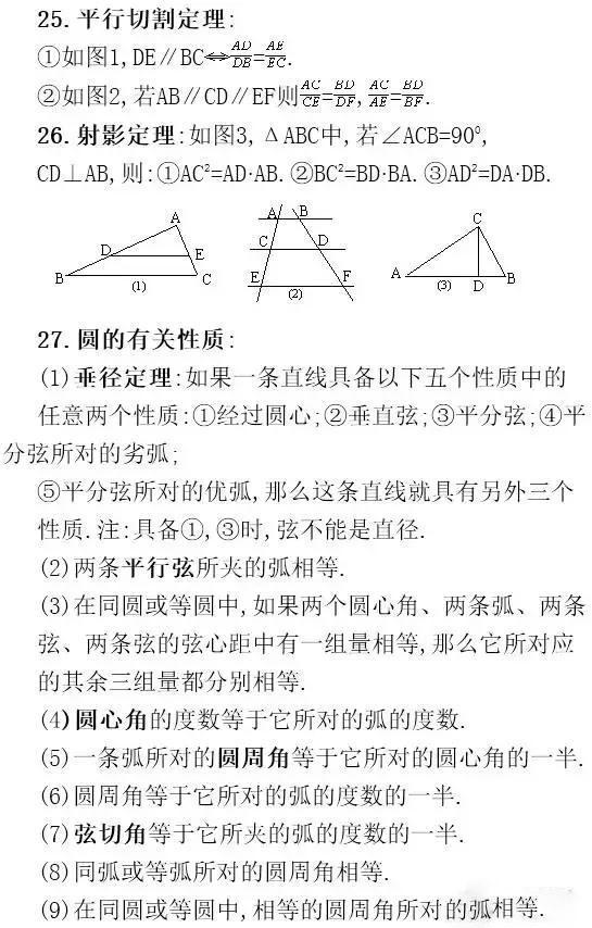 老师推荐:中考必考的32条数学公式!必须记牢,高分全靠它!