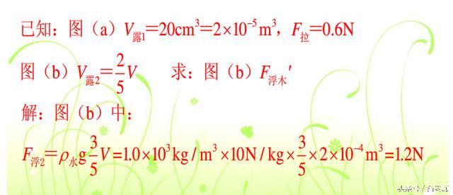 中考物理浮力计算题解题思路,让你不再丢分!