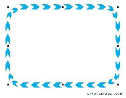 画法>>板报花边图案简笔画>>板报花边设计边框简单