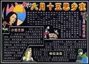 中秋节黑板报:中秋节风俗:玩月