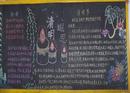 清明节黑板报:清明遐思黑板报模版设计