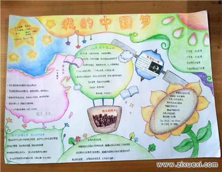 我的中国梦手抄报资料 让中国振兴的梦