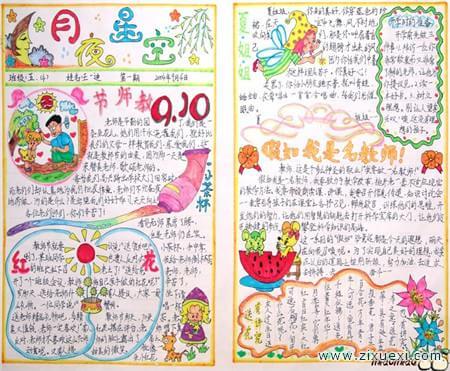 教师节手抄报版面设计图:祝您教师节快乐