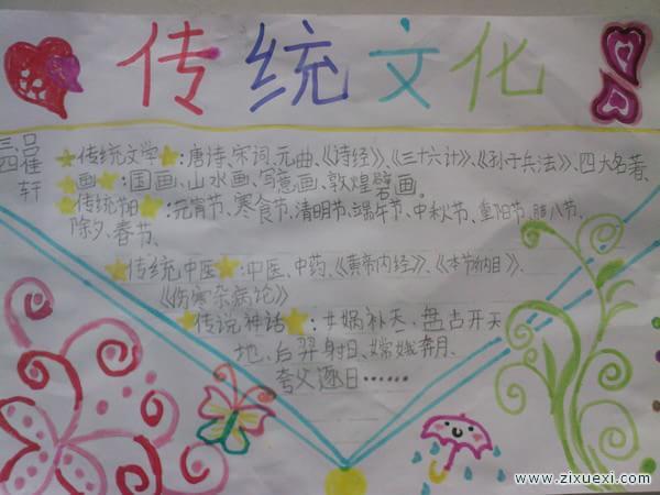 中华传统文化手抄报 中国戏剧