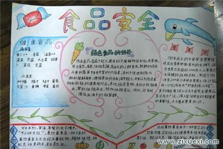 小学生安全手抄报:食物中毒时急救方法