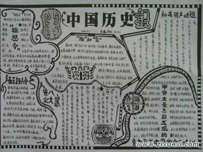 历史手抄报:谈抗日战争史