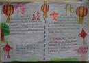 中国传统文化手抄报:文房四宝